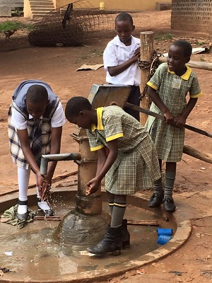Water wells are built at the Kiteezi and Namadhi orphanages. The children's hygiene and wellness improve dramatically.